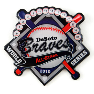 Braves baseball - Wine Charms & Dog Tags