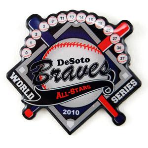 Braves baseball - Die Struck Emblems